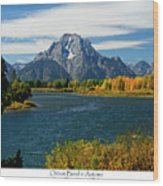 Oxbow Bend In Autumn Wood Print by Greg Norrell