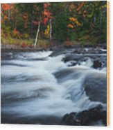 Oxtongue River Ontario Autumn Scenery Wood Print