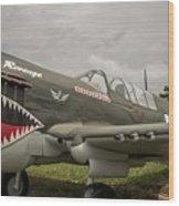 P - 40 Warhawk Wood Print