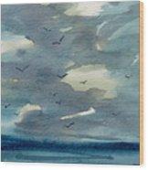 Pacific Seascape Wood Print