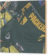 Packers Fan Wood Print