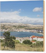 Pag Old Town In Croatia Wood Print