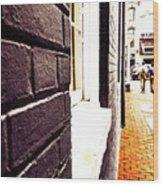 Painted Bricks Wood Print