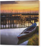 Palaffite Port Wood Print