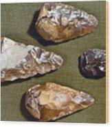Paleolithic Tools Wood Print