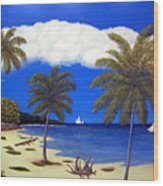 Palm Bay Wood Print