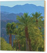 Palm Springs Mountains Wood Print