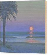 Palmetto Moon Wood Print