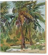 Palms in Key West Wood Print