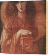 Pandora Wood Print by Dante Charles Gabriel Rossetti