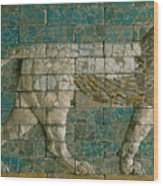 Panel With Striding Lion Wood Print