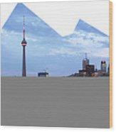 Panorama Of The City Of Toronto Wood Print