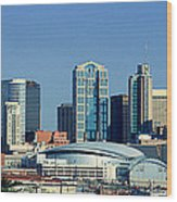 Panoramic View Of Nashville, Tennessee Wood Print