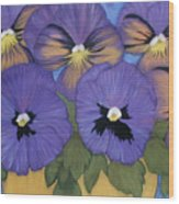 Pansy Power Wood Print