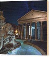 Pantheon Rome Wood Print