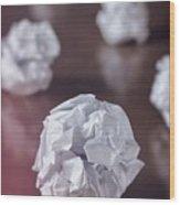 Paper Balls Wood Print