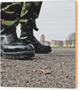 parade boots at sandhurst photograph by david cole