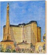 Paris Hotel And Casino Wood Print