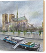 Paris Notre-dame De Paris Wood Print