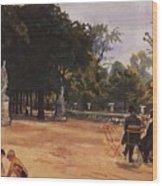 Paris The Luxembourg Park Zinaida Serebryakova Wood Print