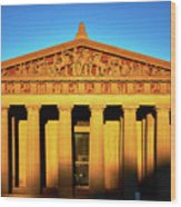 Parthenon In Nashville Wood Print