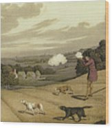 Partridge Shooting Wood Print