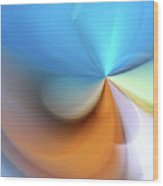 Pastel Paper Abstract I Wood Print