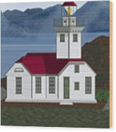 Patos Island Lighthouse Wood Print