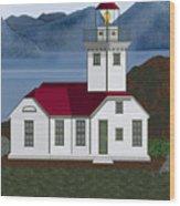 Patos Island Lighthouse Wood Print