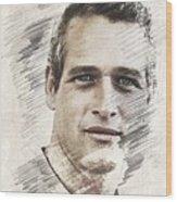 Paul Newman, Actor Wood Print