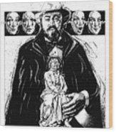 Pavarotti, Fidelio, Inking Wood Print