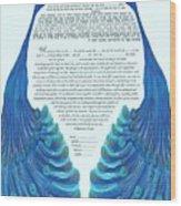 Peacocs Ketubah Wood Print