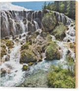 Pearl Shoal Waterfall Wood Print