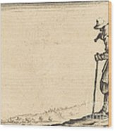 Peasant With Shovel On His Shoulder Wood Print