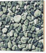 Pebbles 9 Wood Print