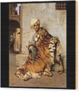 Pelt Merchant Of Cairo - 1869 Wood Print by Jean-Leon Gerome