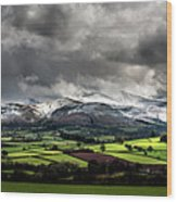 Pen Y Fan And Brecon Beacons Panorama Wood Print