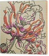 Peonies Wood Print