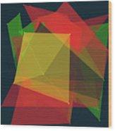 Pepper Polygon Pattern Wood Print