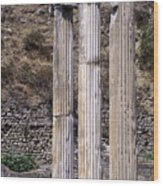 Pergamon Asklepion Colonnade Wood Print