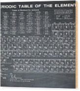 Periodic Table Of Elements In Black Wood Print