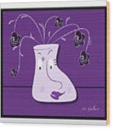 Personality Vase Wood Print
