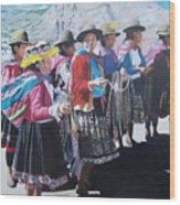 Peruvian Ladies Wood Print