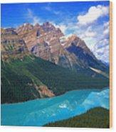 Peyto Lake, Banff National Park Wood Print