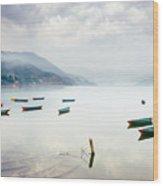 Phewa Lake In Pokhara, Nepal Wood Print