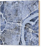 Philadelphia Pennsylvania City Street Map Wood Print