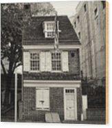 Philadelphia - The Betsy Ross House Wood Print
