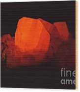 Phosphorescent Calcite Crystal Wood Print