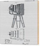 Photographic Camera Patent 1885 Wood Print