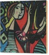 Picasso's Girl Beside A Mirror Wood Print